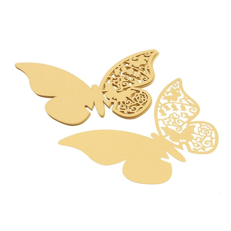 Butterfly Laser Cut Paper Place Card / Escort Card / Cup Card/ Wine Glass Card For Wedding Party Decoration