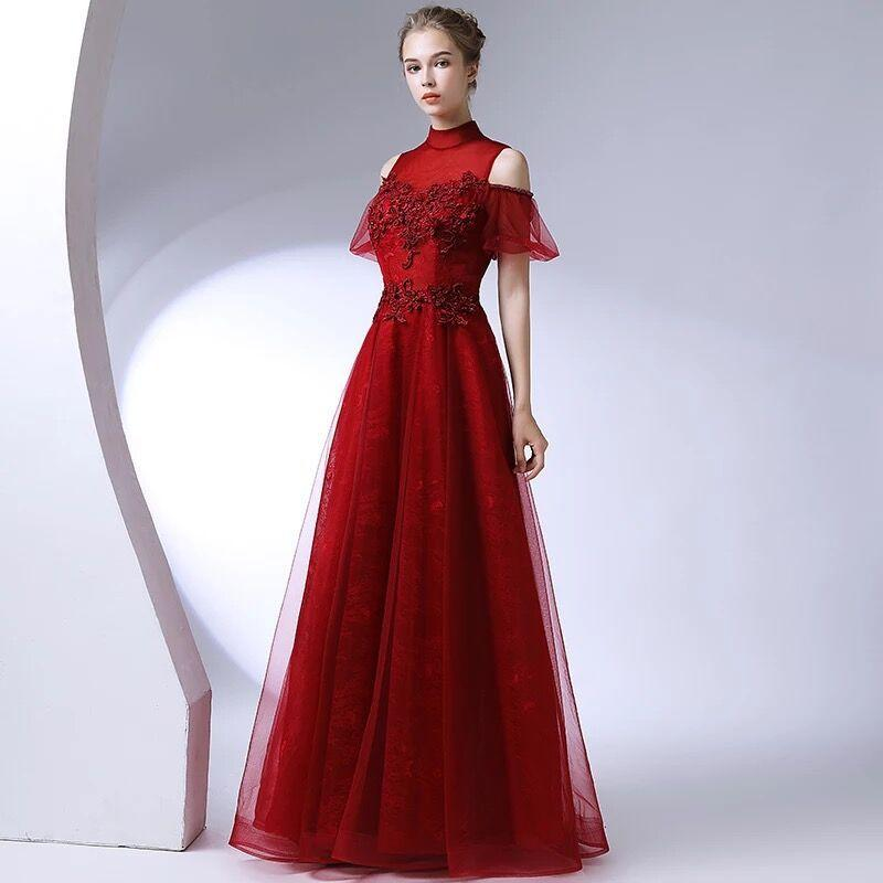 Sexy Slim lace Appliques Lace Up Chinese style Evening Dress Improved Cheongsam Vestidos Size S-3XL
