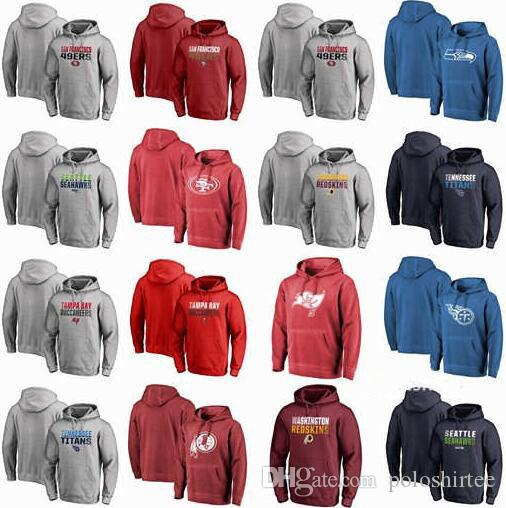 online retailer c5e49 9e7e2 San Francisco 49ers Seattle Seahawks Tampa Bay Buccaneers Titans Redskins  Pro Line Ash Iconic Fade Out Pullover Hoodies