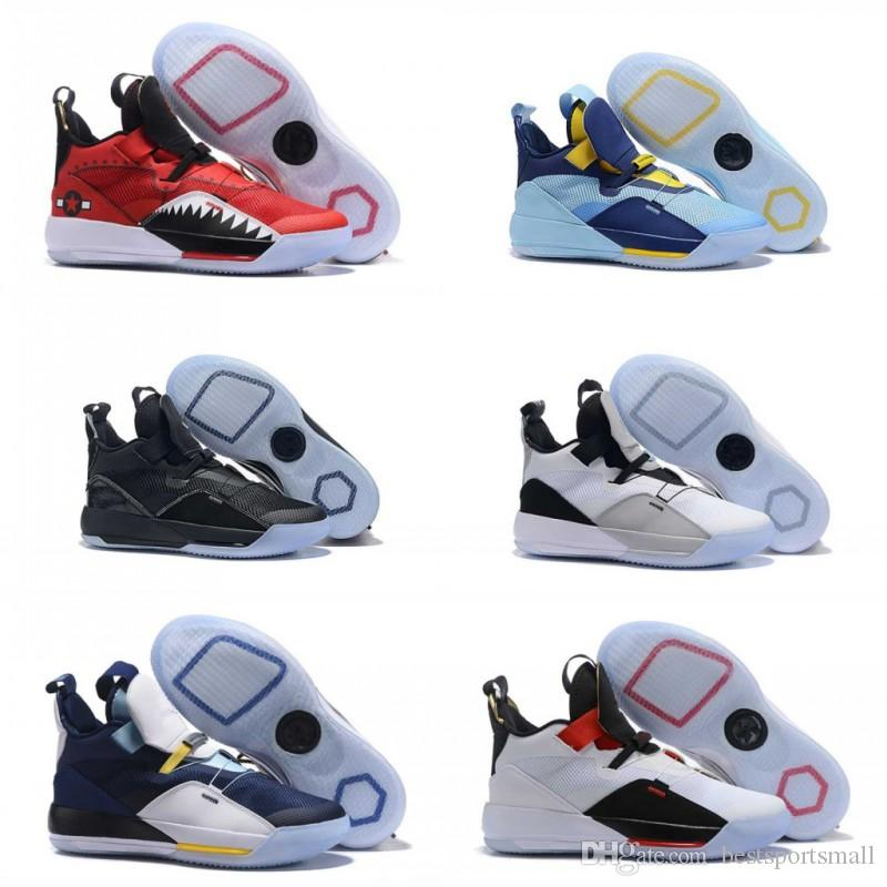 753eaf3b37d 2019 New Arrive Jumpman XXXIII 33 Mens Basketball Shoes Cheap Sale Top  Quality 33s Multicolors Black Blue Trainers Sneakers Size 7-12