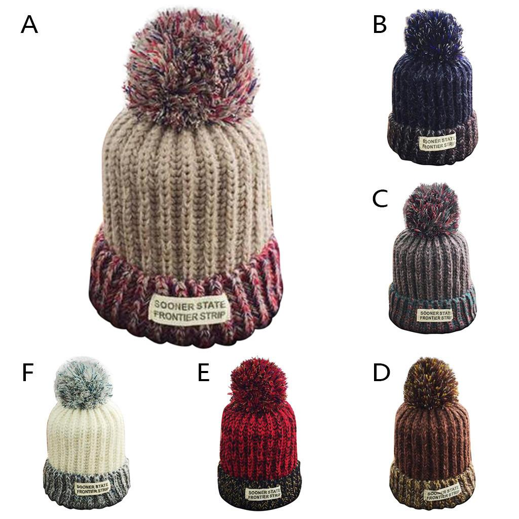 7a56c7ad0 YOUYEDIAN Men Women Hairball knitted hat Autumn Winter Outdoor Warm  Hairball Hats stretchy Crochet Knit Holey Beanie Cap #Y40
