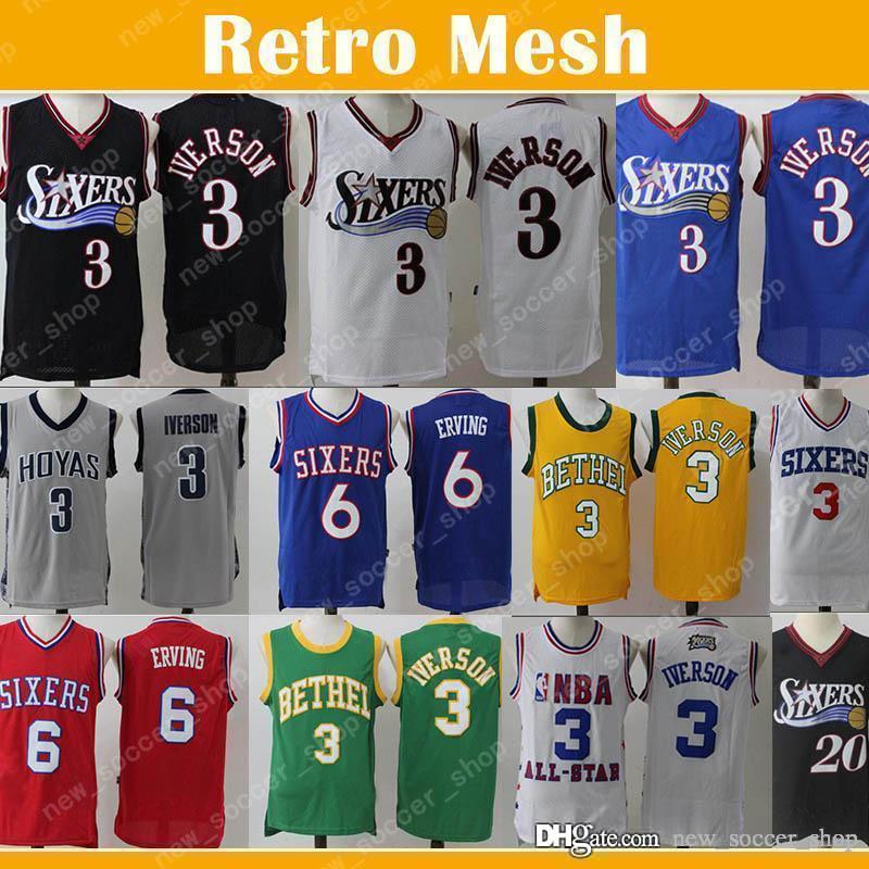 595f105fdfe9 2019 Hot Sale 76ers Philadelphia Allen 3 Iverson Jersey Julius 6 Erving  Markelle 20 Fultz Mesh Retro Men Basketball Jerseys From New soccer shop