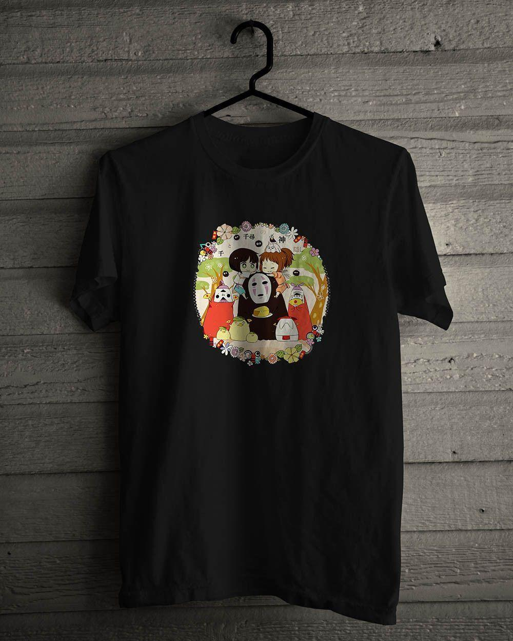 78ae9f980f6e7 Spirited Away No face Japan Anime Basic Black T-Shirt Funny free shipping  Unisex Casual top