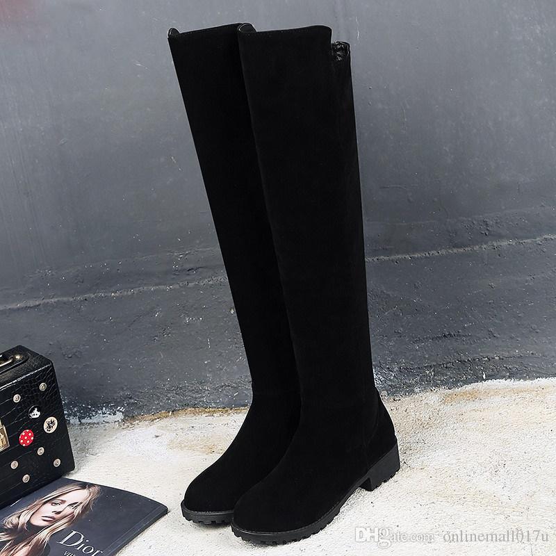 9f7f6fd80 Compre Nova Coxa Alta Botas De Inverno Feminino Mulheres Sobre O Joelho  Botas Tamanho 42 43 44 45 46 Sexy Sapatos De Moda 2019 Botas De Equitação  De ...