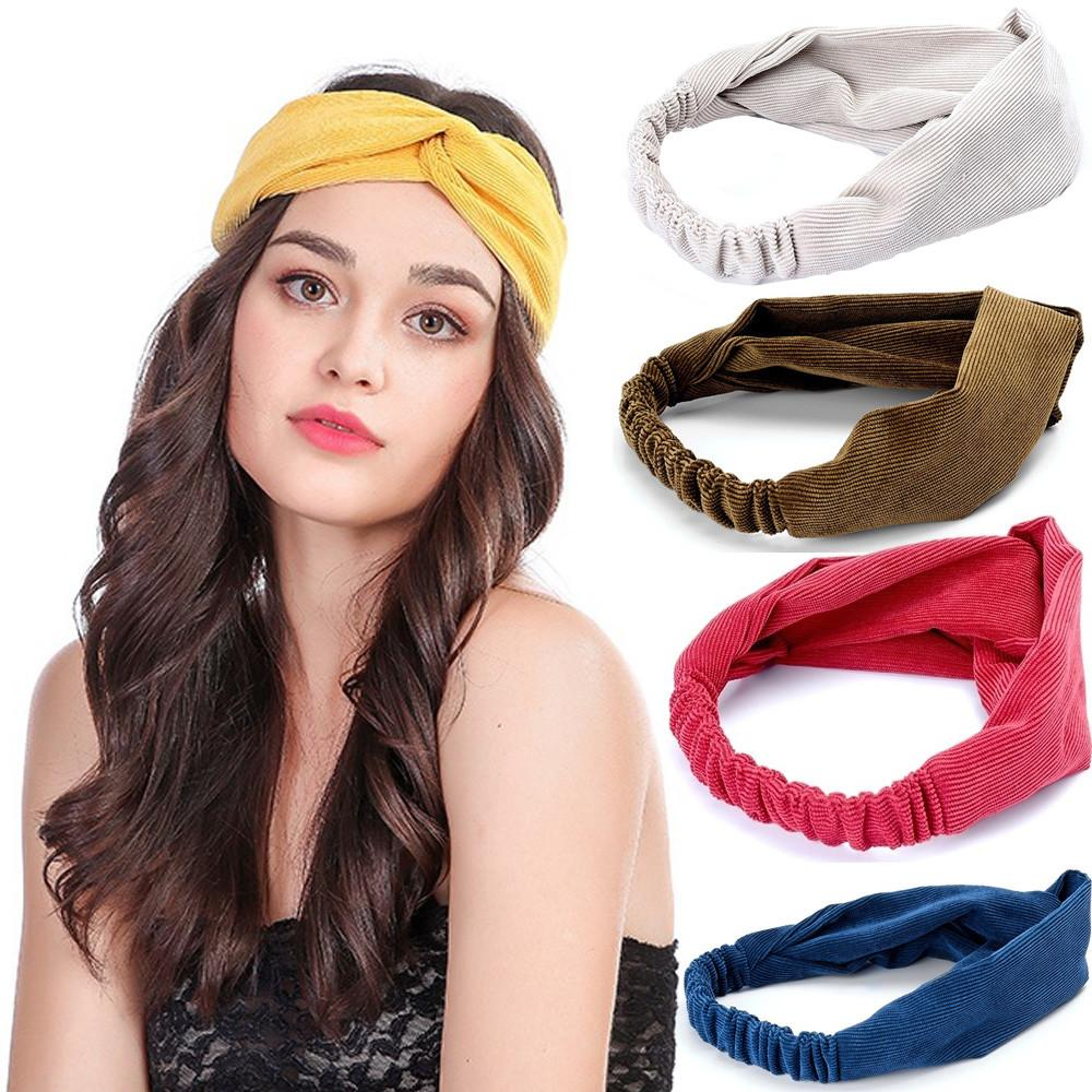 a93bcb344b2f1 Headbands for Women Workout Cute Knotted Cross Hairbands Stretchy Hair  Decro hair accessories for girls Stylish Have a soul