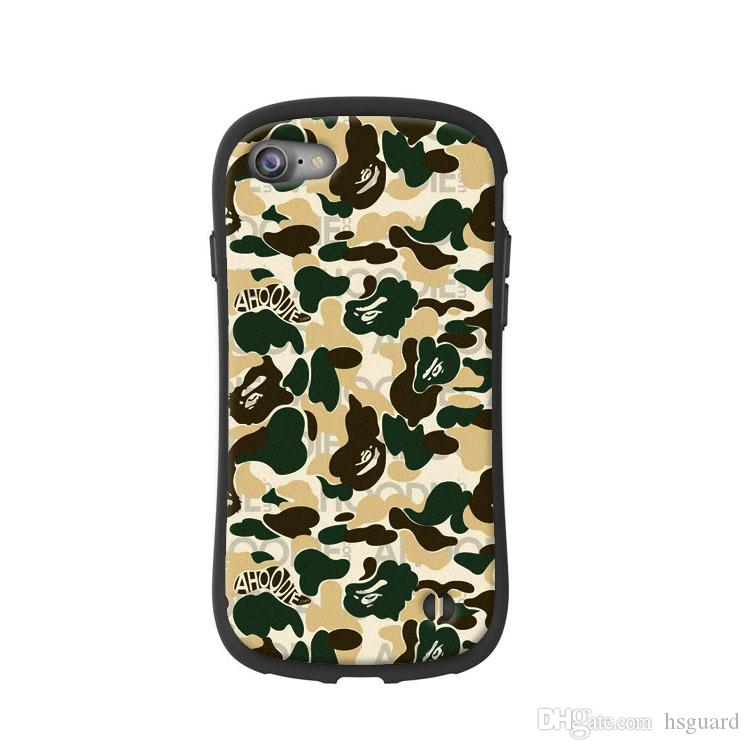 Ape Marke Handy Fall Camouflage Luxus Design Für Iphone Xr 6 7 8 X Plus Xs Max TPU Geprägte Weiche Phone Cases