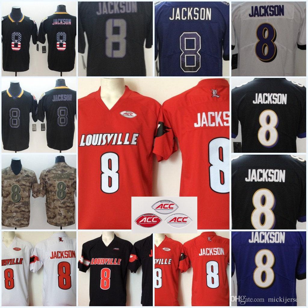 Mens NCAA Louisville Cardinals Lamar Jackson College Football ... f070045a1