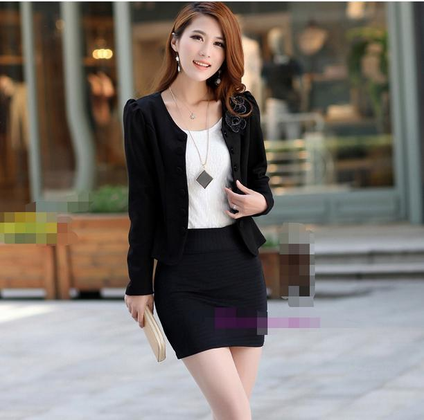 2016 Women dress Korean Slim small suit fashion wild temperament cardigan suit casual jacket 160423