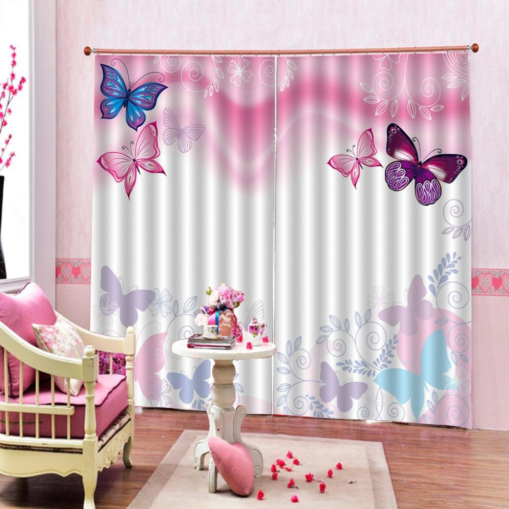 Customize Window Cortains For Bedroom Blackout Abstract pansy Modern Window Curtains Gold Curtains Living Room