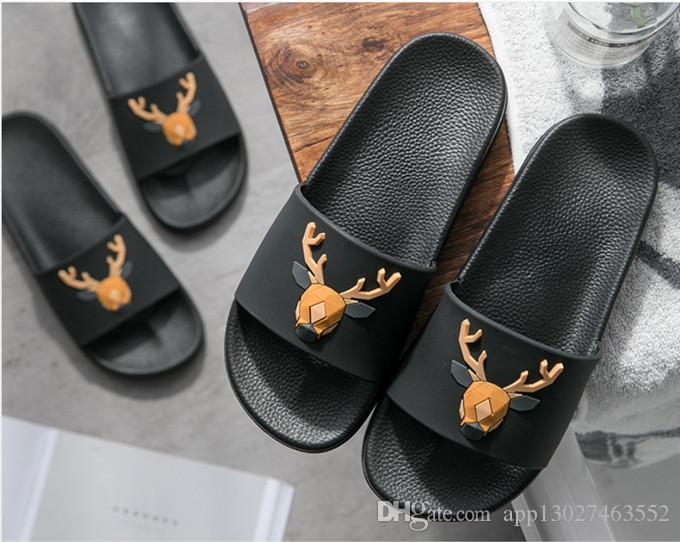 bfb15f85d Slippers Gear Bottoms Men S Striped Sandals Casual Non Slip Summer Casual  Slippers Slippers High Heel Boots Pumps Shoes From App13027463552