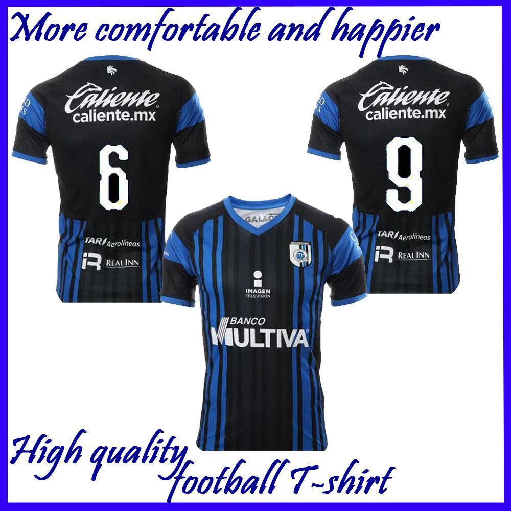 2018 2019 Liga MX Querétaro FC Home Blue Soccer Jersey 18 19 Liga De México  PUCH SANVEZZO HIRAM Camiseta De Fútbol Querétaro FC Uniforme Por ... f7d3e2786e601
