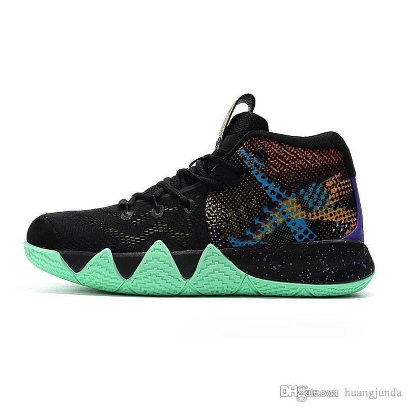 5a373a966c41 Cheap Mens Kyrie Irving 4s IV Basketball Shoes Mamba Mentality Lucky Charms  Green Halloween Team Red Kyries Sneakers Trainers with Box for Sale