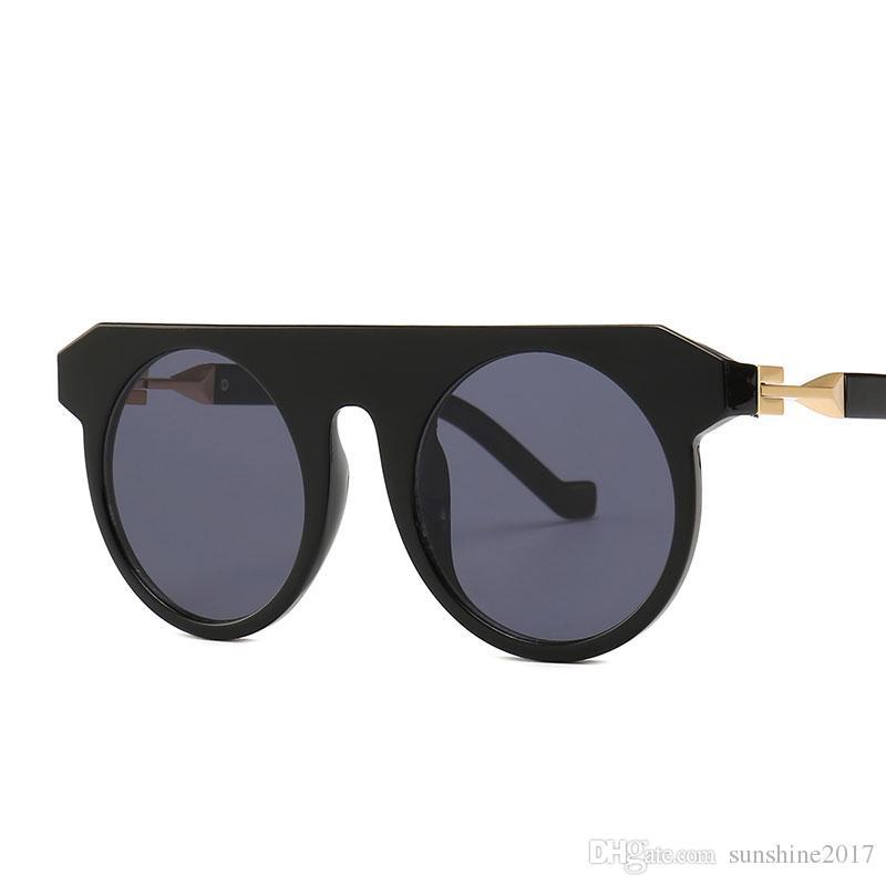 b8f9d0cce8 Retro Round Sunglasses Women Brand Designer Geometric Frame Oversized Sun Glasses  Men Fashion Female Big Shades Luxury Eyewear Online with  9.39 Piece on ...