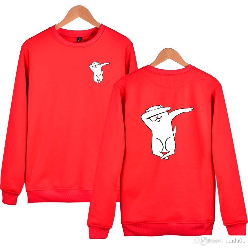 5381a7565101 2019 Ripndip Dab Cat Mens Designer Pullover Casual Sweatshirts Hip ...