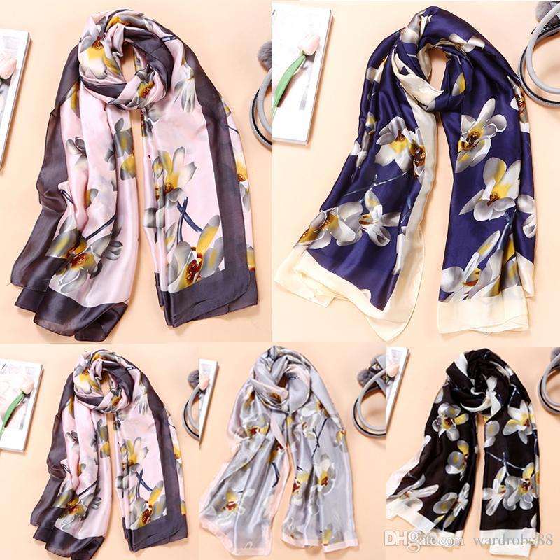 2019 New Arrival Wholesale Ladies Silk Scarf Fashion Spring Summer ... c1ff11c85d0