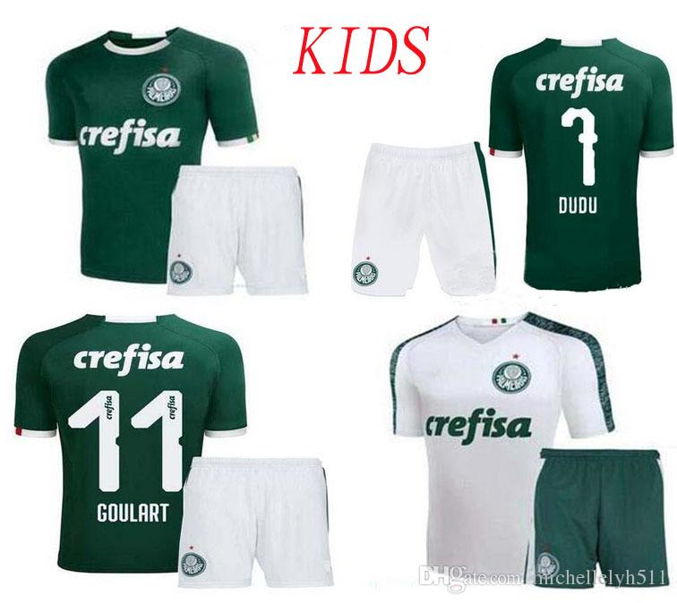 2019 Palmeiras Kids Soccer Jersey Kit Home Away Boys Football Shirt Shorts  19 20 Deyverson Willian Deyverson Lucas Lima Dudu Soccer Uniforms UK 2019  From ... a365c279c