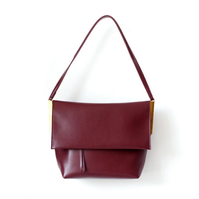 1d01d8178ff53 Nice Unique Design Women Messenger Bag Genuine Leather Korean Style  Shoulder Bag Simple All Match Floding Lady Handbag Leather Bags Designer  Purses From ...