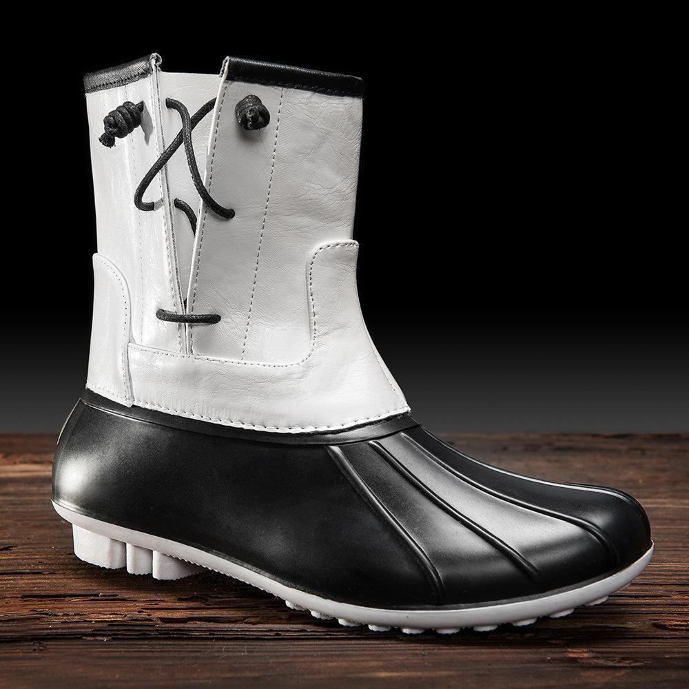 83c97d06b93 YD-EVER Women Rubber Rain Boots Shoes Autumn New Female Fashion Duck Boots  Shoes Waterproof Tube Short Rain