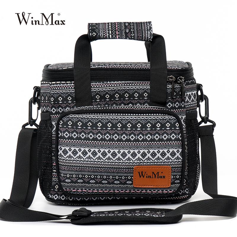 Winmax New Office Lunch Bag for Women Functional Insulated Thermal Box  Fresh Keep Cold Ice Men Travel Cooler Lunch Bag Tote
