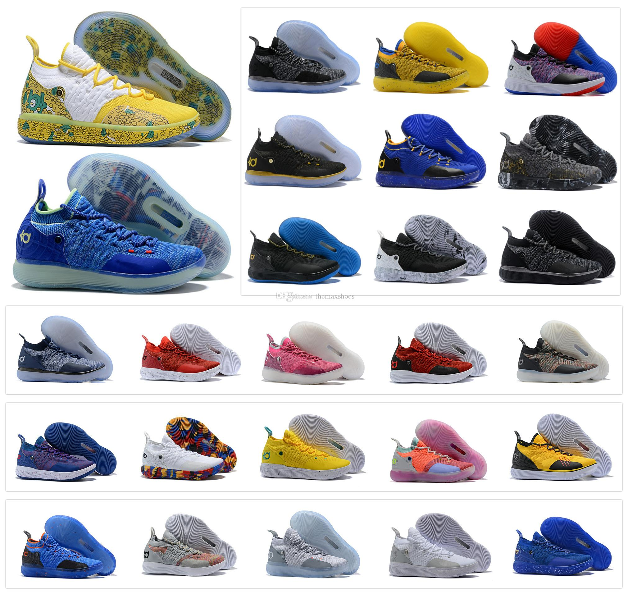 85c6a2d6a11c Hot Zoom Kevin Durant KD 11 Multi Color KD11 11S Numbers BHM Igloo Men  Anniversary University Basketball Shoes X Elite Mid Sport Sneakers Shoes  Sneakers ...