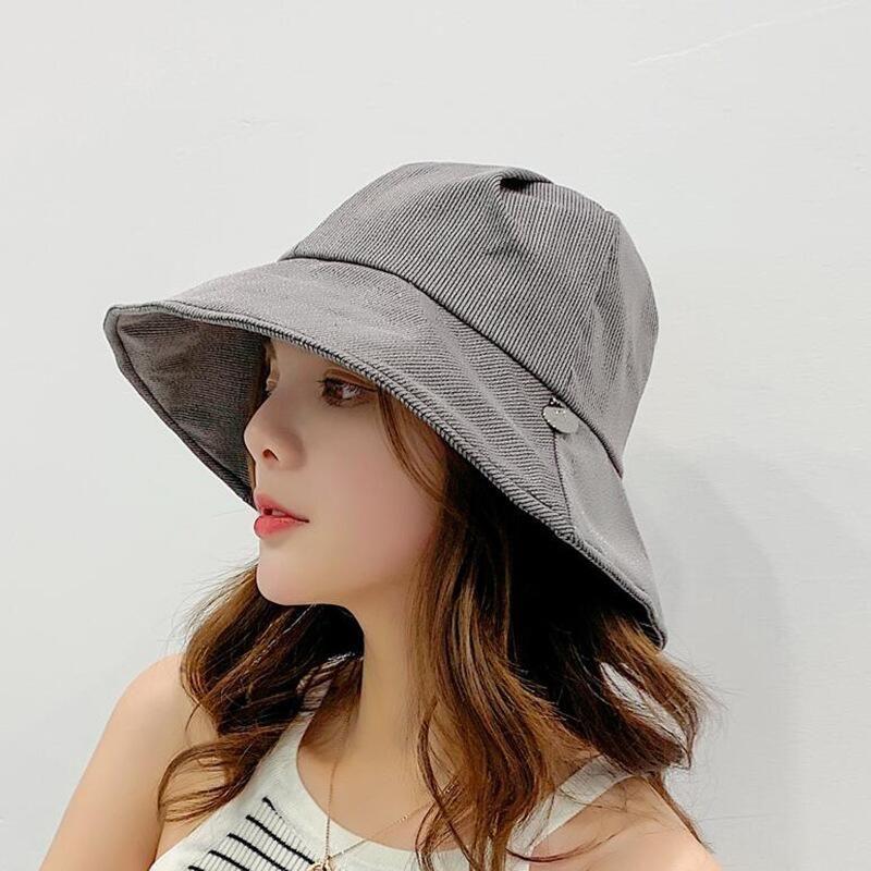 4fa6359f0 Fashion Bucket Hat Women Japanese Solid Color Bucket Hat Unisex Fisherman  Hats Men Women Cotton Street Hip Hop Fishing Sun Cap