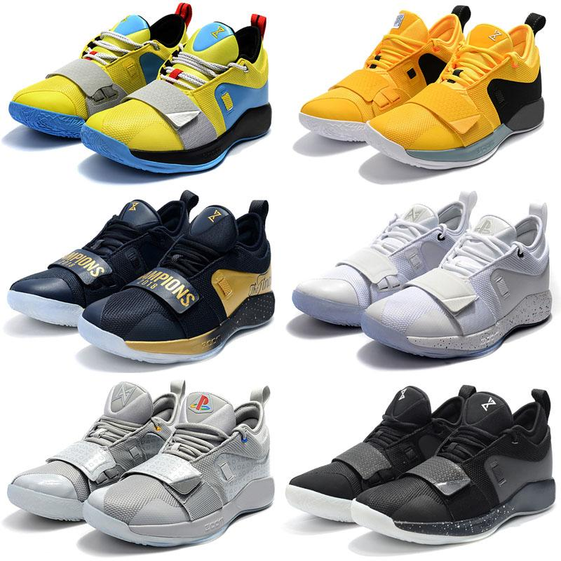 cheaper d5099 0d474 2018 Hot Sale PG 2.5 Black White Red Paul George Hot Sale PG 2.5 Black Kids  Basketball Shoes for Top quality Men Sports Sneakers