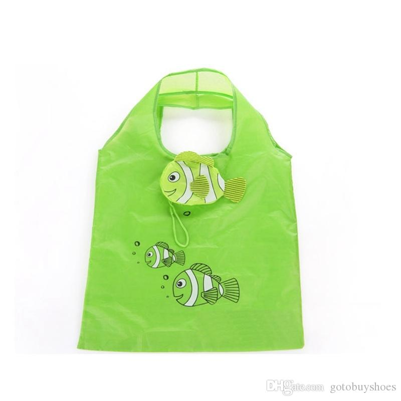 Cute Fish Shape Shopping Bags Reusable Shopping Bags Portable Eco Tote Foldable Female Handbags Supermarket Shopper #89774