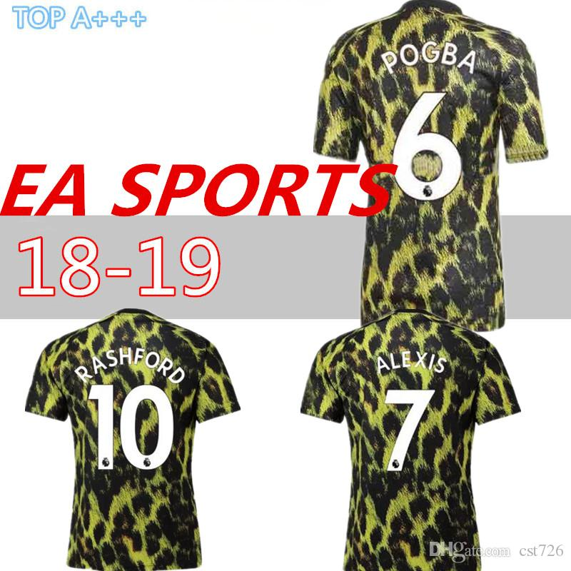 812ce49c8 Thailand EA Sports POGBA MEN Soccer Jersey United 18 19 Man Football ...