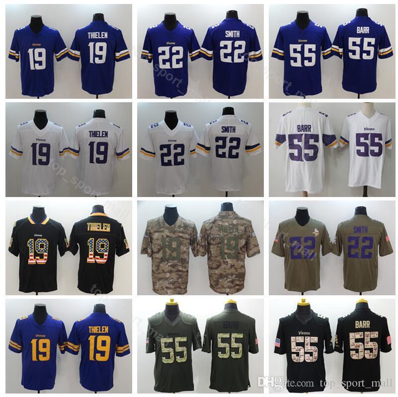 best loved 36957 fe0d3 Football Vikings Minnesota 19 Adam Thielen Jersey Men 22 Harrison Smith 55  Anthony Barr Vapor Untouchable Salute to Service Hyphenation
