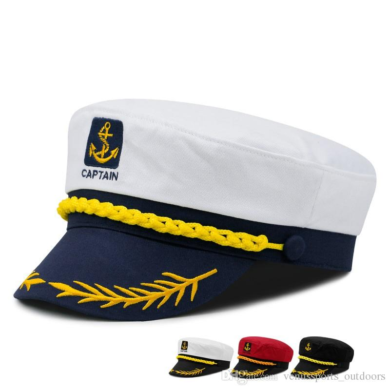 ce29928de2c 2019 Outdoor Children Sailor Ship Boat Captain Hat Retro Men And Women  Uniform Hats White Adjustable Cap From Venussports outdoors