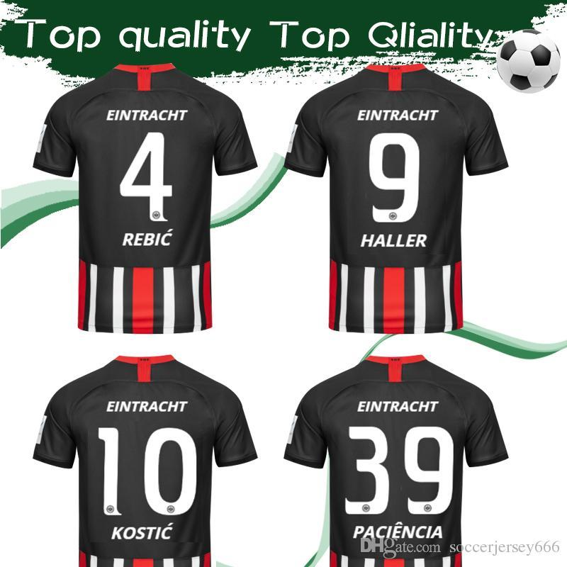 2020 Frankfurt Home Soccer Jersey 19 20 Eintracht Frankfurt #9 HAKKER #4 REBIC Football Shirt 2019 #10 KOSTIC #39 PACIENCIA Football Uniform