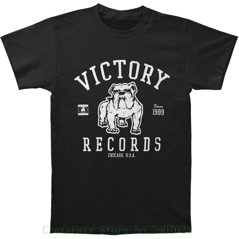 0950f20a3b00 Victory Records Men S Classic T Shirt Black Summer Short Sleeve ...
