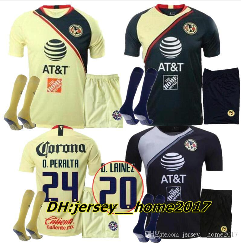 1defa8a8906 2019 ADULT KIT 2018 MEXICO Club America Soccer Jersey Home Away 3rd 18 19  LIGA MX Mateus R .Martínez D.LAINEZ O. Peralta Men Sets Football Shirts  From ...
