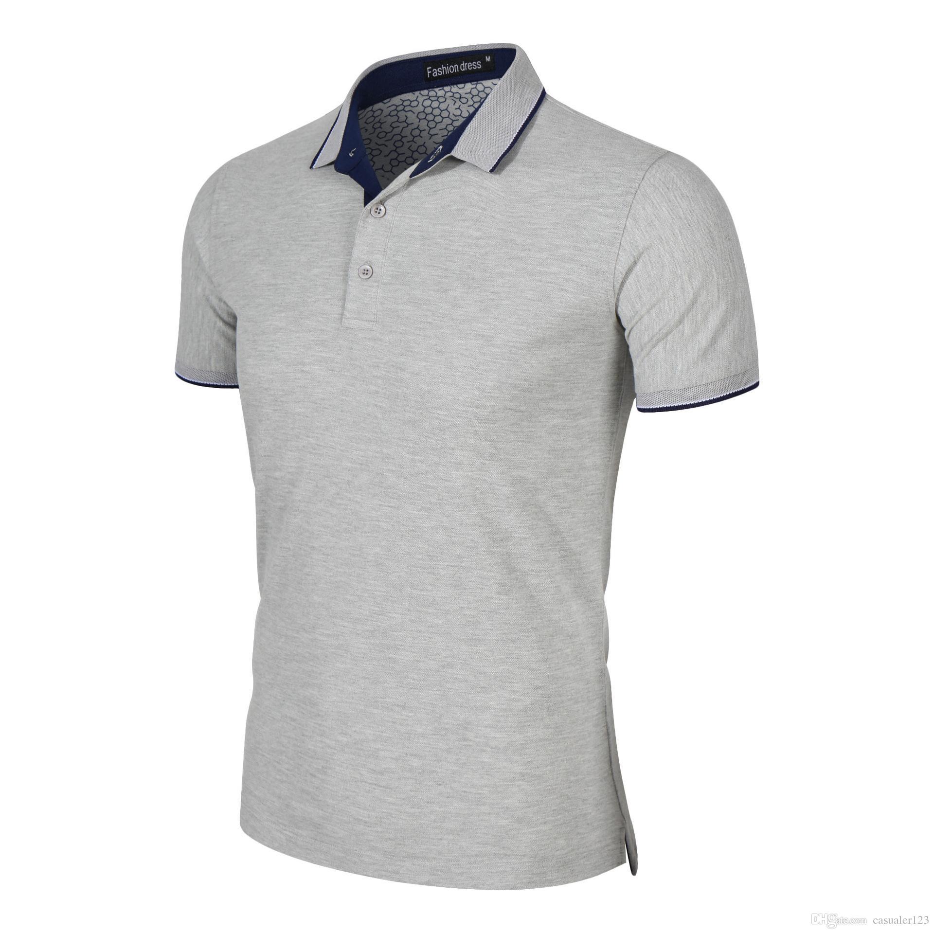 e1145d41a Compre Camisa De Polo Personalizada Para Hombre Camisa De Golf Bordada  Personalizada Uniforme De Trabajo Bordado De Alta Calidad 100% Algodón  Peinado Polo A ...