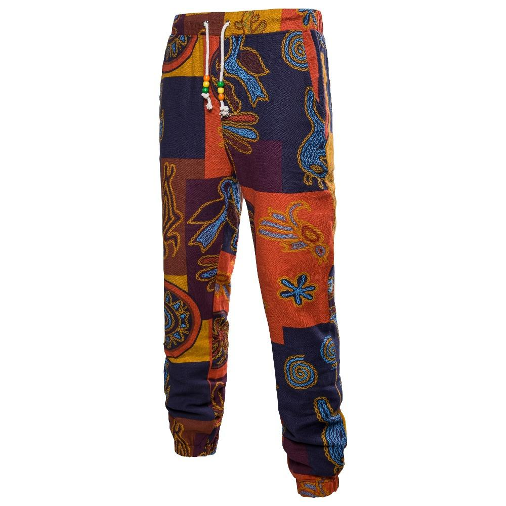Acheter À Plage Pour Motifs Style Pantalon Hommes Lin En 2018 De aOWncTfra