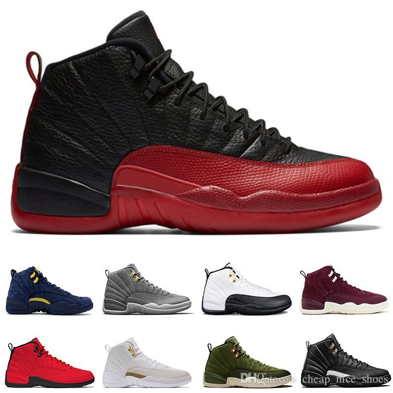 b18c9c0de7c7 12 12s Men Basketball Shoes Michigan Bulls College Navy UNC NYC ...