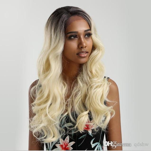 Full Lace Human Hair Wigs Blonde Ombre Dark Root Body Wave Glueless Brazilian Virgin Ombre 613 Lacefront Human Hair Wigs For Black Women
