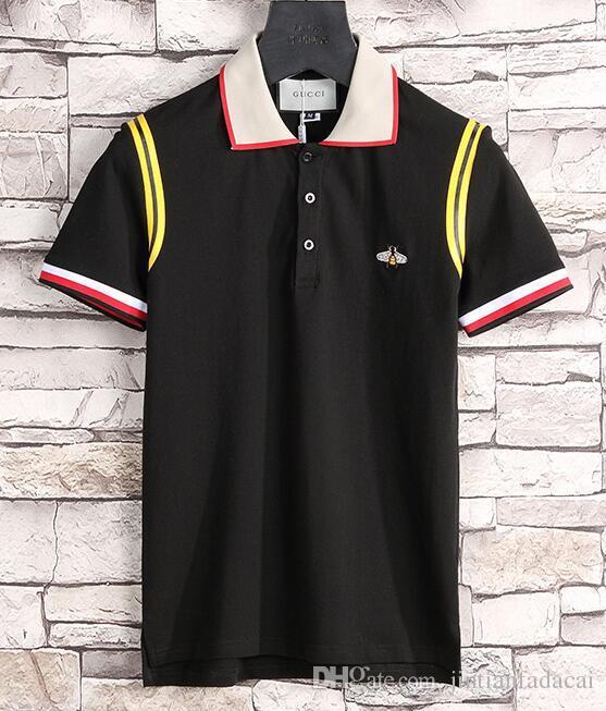 0bb050fb0 Nova marca Hip Hop inverno dos homens t-shirt de Manga Curta 100% Algodão  camisa polo camisa dos homens teel quadril 3g Designer mens polo g  camisetas 318