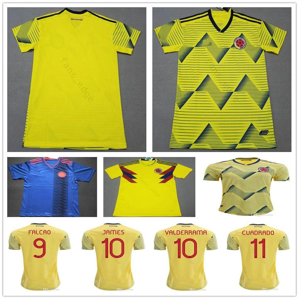 25ffaaeb863 2019 2019 Copa America Colombia Soccer Jerseys 10 JAMES 9 FALCAO 11  CUADRADO VALDERRAMA Rodriguez Custom Home Yellow National Team Football  Shirt From ...