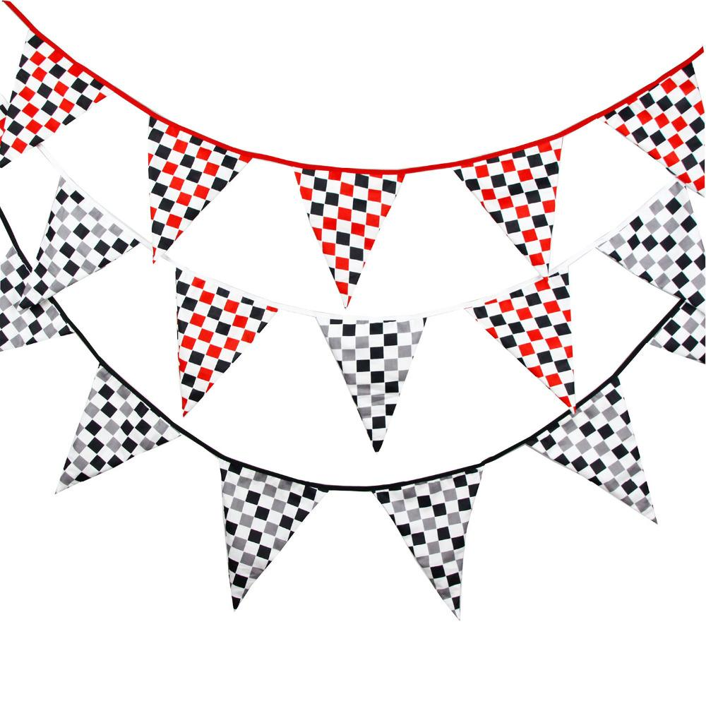 New 3 5M Bigger flags Fabric Bunting motorcycle race Birthday Party  Decoration Photo graph background banner
