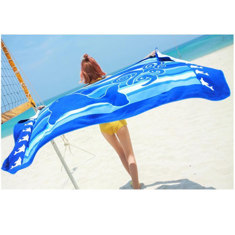 Plage Serviette de bain Couverture imprimé parfait pour pique-nique Douche Voyage plage Camping 180x100cm