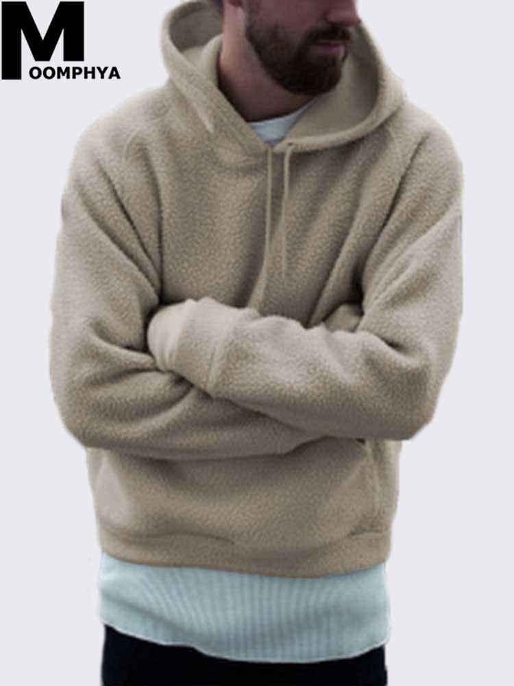 8ab28007a00 2019 Moomphya Streetwear Long Sleeve Men Hoodies Warm Winter Woollen Hoodie  Men Hooded Sweatshirts Hip Hop Mens Hoodies From Duixinju