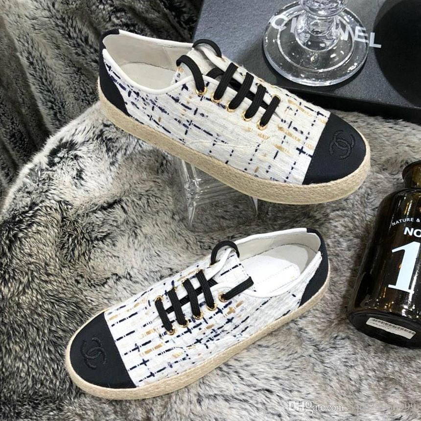 Summer new high quality ladies shoes retro ethnic style new straw rope lace embroidery fisherman shoes casual fashion canvas linen ladies qi