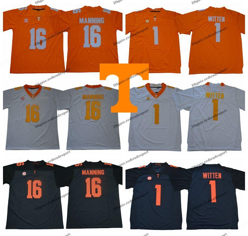dfdd51bd3 2019 2018 New Tennessee Volunteers 1 Jason Witten College Football Jersey  16 Peyton Manning Jalen Hurd 11 Joshua Dobbs University Football Shirt From  .