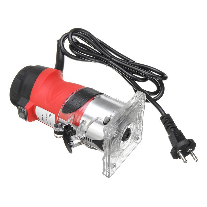 "Max Power 2200W 30000rpm Electric Trimmer for Woodworking 6.35mm 1/4"" Laminate Router Bit Wood Milling Carving Trimming Machine"