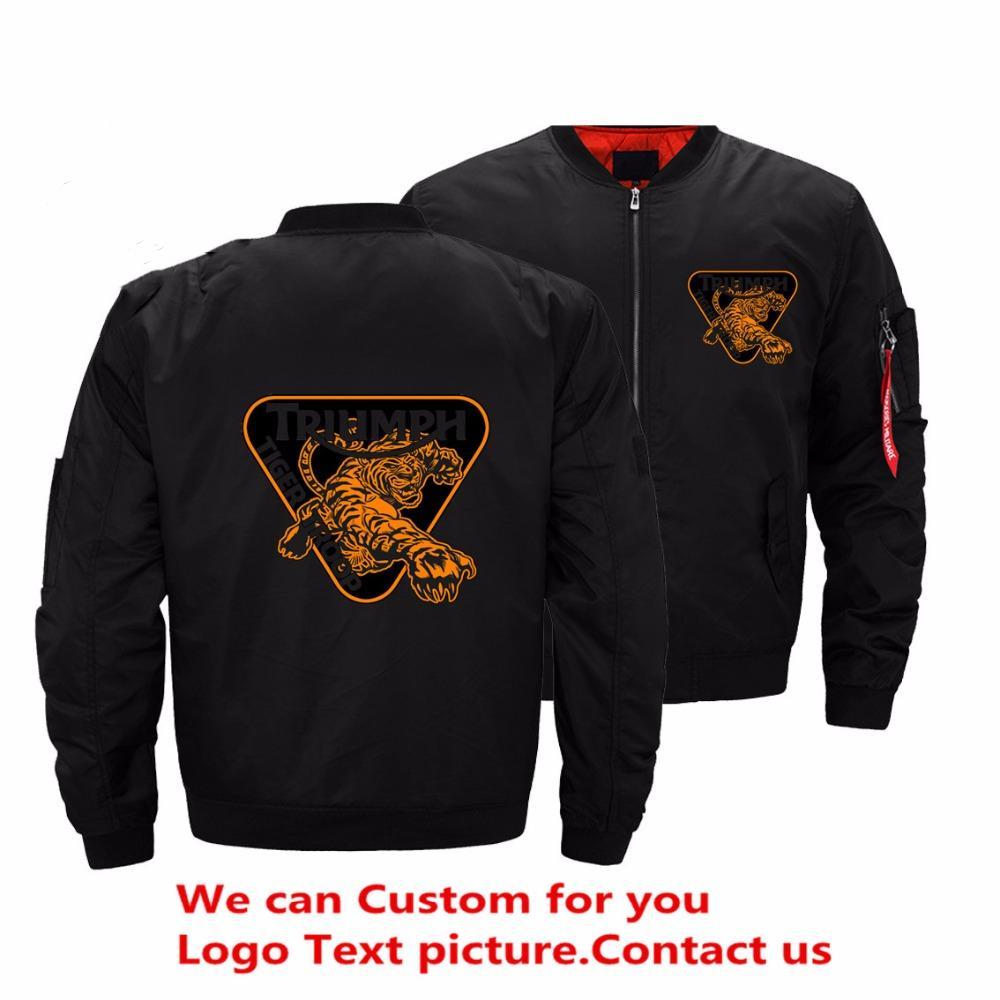 Drop Shipping USA Size Triumph Jacket Men Tiger Streetwear Mens ... 027b5e331