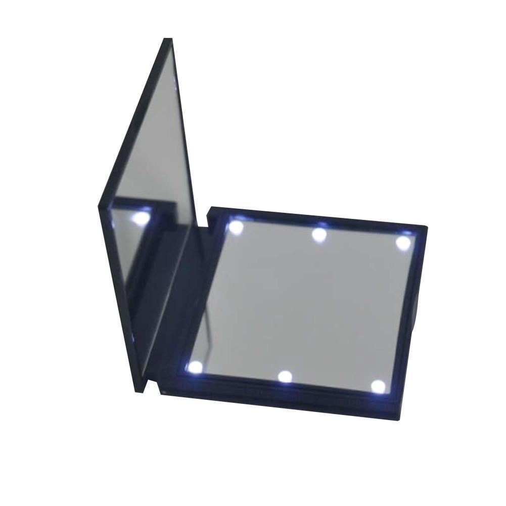 Schönheit & Gesundheit 2018 Weiß Tragbare Abs Kosmetische Spiegel Faltbare Eitelkeit Spiegel Make-up Spiegel Mit Led-leuchten Bequem Schminkspiegel