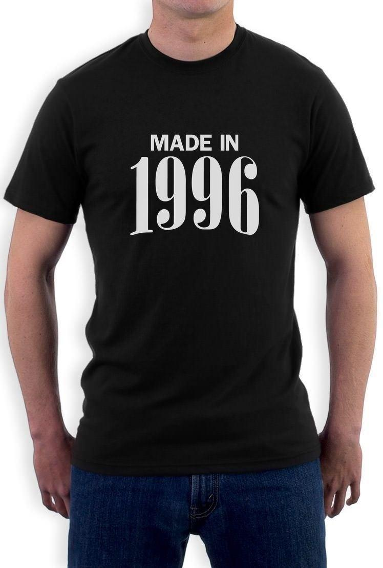 Made In 1996 Retro 20th Birthday Gift Idea Cool T Shirt Bday Present