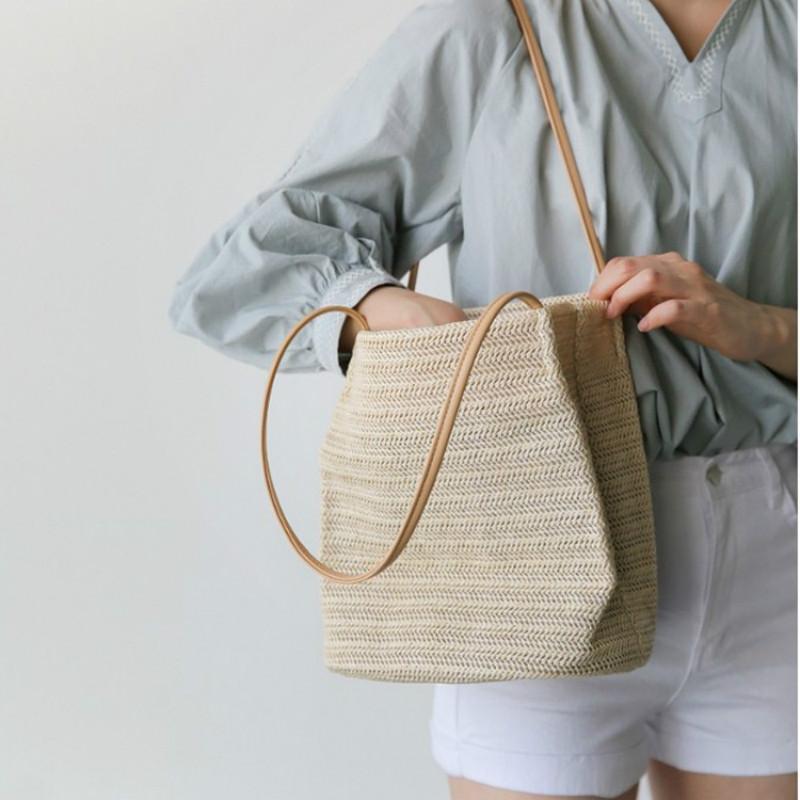76f06dab2b13 2018 New Beach Fashion Natural Designer Women Designer Handbags Tote ...