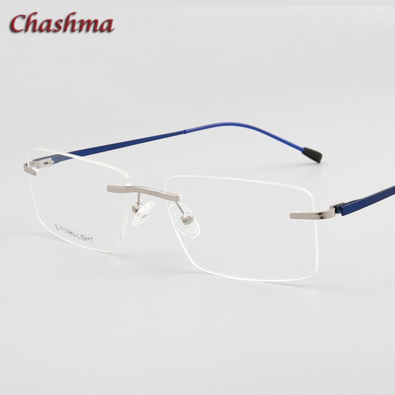 2c22e28475 2019 Chashma Designer Eyewear Optical Prescription Titanium Frame For Men  Rimless Light Eyeglass Hinge Quality Glasses Frame Men From  Pulchritudinous